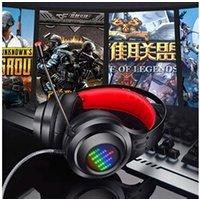 Casque de scène AUCUNE Hl-g08 gaming stéréo usb pc casque lumineux filaire casque portable microphone