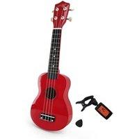 Guitare classique Johnny Brooks Ukulélé rouge + sacoche + tuner + médiators et cordes de rechange - jhonny brook jb310b
