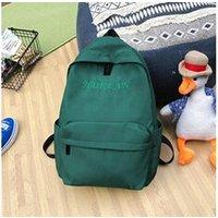 Cartable scolaire Generic Grande capacité solide couleur nylon imperméable casual sac à dos école 1555
