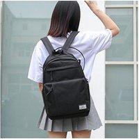 Cartable scolaire Generic Mode femmes étudiants toile couleur unie épaule sac d'école sac à dos 938