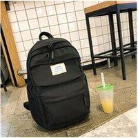 Cartable scolaire Generic Grande capacité solide couleur nylon imperméable casual sac à dos école 1392
