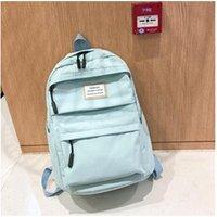 Cartable scolaire Generic Grande capacité solide couleur nylon imperméable casual sac à dos école 1395