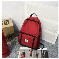 Cartable scolaire Generic Grande capacité solide couleur nylon imperméable casual sac à dos école 1753