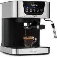 Combiné expresso cafetière KLARSTEIN Arabica cafetière & machine à expresso - 1,5l - pression 15 bars - commande tactile - 1050w - inox