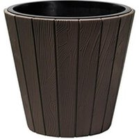 Carré potager Icaverne Jardiniere - bac a fleur prosperplast pot rond woode - ø 488 mm - marron brun