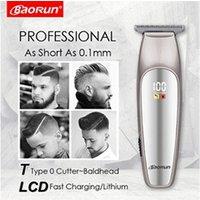 Livre beauté, santé, forme Yokuli Tondeuse à cheveux électrique moniteur lcd 0,1 mm coupe chauve rasage machine outil de coupe de cheveux
