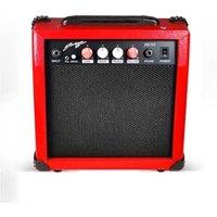 Ampli Guitare Johnny Brooks Amplificateur ultra-portable de guitare rouge 20w/6,5