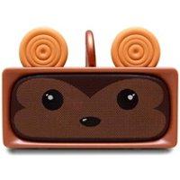 Enceinte sans fil Mobility On Board Enceinte bluetooth adorable singe sans fil microphone 6h mob marron