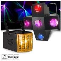 Jeux de lumière autonome Lyt-or Pack jeux de lumières ellison led flower - 5 lentilles - dmx + projecteur derby kolor rgb led