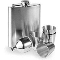 Boisson énergisante Euroweb Lot d'accessoires à boire avec flasque en acier inoxydable - set coktail barman
