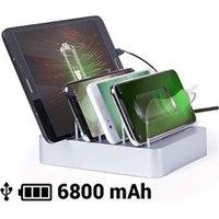 Coffrets cadeaux Euroweb Chargeur à 4 ports usb pour quatre appareils mobiles 6800 mah - dock couleur - gris