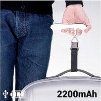 Coffrets cadeaux Euroweb Balance pour valises avec ruban et power bank 2200 mah - avec batterie de secours couleur - noir