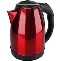 Bouilloire Pem Bouilloire en inox rouge - 1500w capacité 1.8l avec système anti-surchauffe - pem kt-161-r