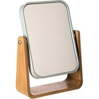 Miroir connecté No-name Chic miroir grossissant rotatif en bambou