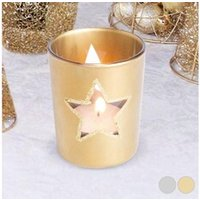 Décoration de noël Euroweb Porte bougie noël en forme d'étoile - deco de noel couleur - argenté