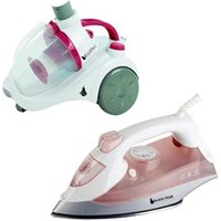 Aspirateur à main Black Pear Aspirateur sans sac 700w class a - blackpear bas263 + fer vapeur 2000w - backpear bfv2005