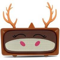 Enceinte sans fil Mobility On Board Enceinte bluetooth adorable cerf sans fil microphone 6h mob marron