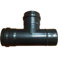 Poêle à bois / à granulés Monmobilierdesign Té de raccordement pour conduit de poêle à pellets      noir