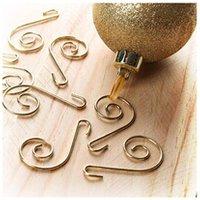 Décoration de noël Astuceo Crochets dorés pour sapin - lot de 15
