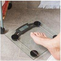 Objet de décoration Euroweb Balance numérique de salle de bain en verre avec base antidérapante - pese personne design