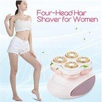 Epilateur électrique Ckeyin Ckeyin epilateur électrique de femme kit avec rasoir 4 têtes lumière intégrée pour les aisselles jambes bikini bras pied visage