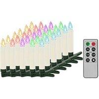Décoration de noël GENERIQUE Icaverne - présentoirs et supports pour décorations de noël splendide bougies led sans fil de noël avec télécommande 30 pcs rvb
