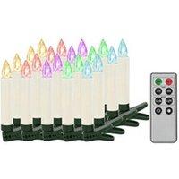 Décoration de noël GENERIQUE Icaverne - présentoirs et supports pour décorations de noël superbe bougies led sans fil de noël avec télécommande 20 pcs rvb