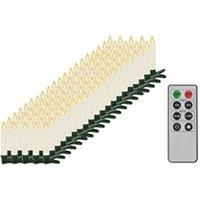 Décoration de noël GENERIQUE Icaverne - présentoirs et supports pour décorations de noël distingué bougies led sans fil avec télécommande 100 pcs blanc chaud