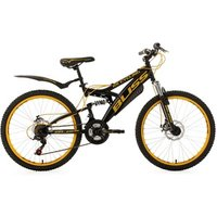Vélos enfant KS Cycling Vtt tout suspendu adolescent 24'' bliss noir-jaune tc 38 cm ks cycling
