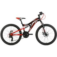 Vélos enfant KS Cycling Vtt tout suspendu 24'' nice noir-rouge tc 43 cm ks cycling