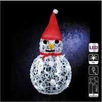 Décoration de noël Féerie Lights Et Christmas Bonhomme de neige lumineux blanc
