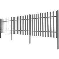 Clôture GENERIQUE Icaverne - piquets de clôture contemporain clôture à piquets avec poteaux 3 pcs wpc 600x120 cm