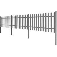 Clôture GENERIQUE Icaverne - piquets de clôture inedit clôture à piquets avec poteaux 3 pcs wpc 600x60 cm