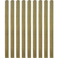 Clôture GENERIQUE Icaverne - piquets de clôture inedit lattes imprégnées de clôture 10 pcs bois 140 cm
