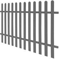 Clôture GENERIQUE Icaverne - piquets de clôture distingué clôture à piquets wpc 200 x 120 cm