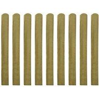Clôture GENERIQUE Icaverne - piquets de clôture splendide lattes imprégnées de clôture 10 pcs bois 100 cm