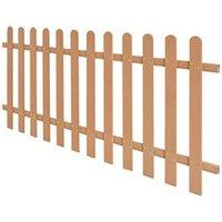 Clôture GENERIQUE Icaverne - piquets de clôture esthetique clôture à piquets wpc 200 x 80 cm