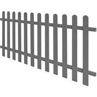 Clôture GENERIQUE Icaverne - piquets de clôture inedit clôture à piquets wpc 200 x 80 cm