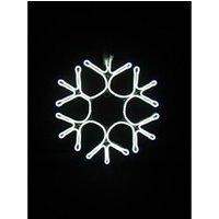 Décoration de noël Feeric Light & Christmas Kit - coffret - autres articles decoration de noel décoration lumineuse extérieure flocon de neige tube - 43 cm - lumiere fixe