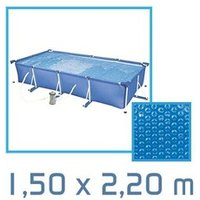 Bâche de piscine Linxor Bâche à bulles rectangle 1,50 x 2,20m 180 microns
