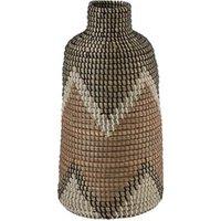 Objet de décoration Bois Dessus Bois Dessous Vase à motifs en fibres naturelles