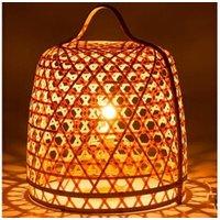 Objet de décoration Bois Dessus Bois Dessous Lampe à poser en bambou naturel et métal