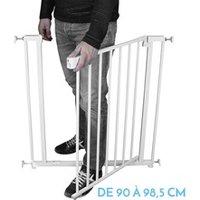Barrière de sécurité bébé Monsieur Bébé Barrière de sécurité extensible de 90 cm à 98.5 cm