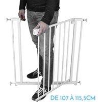 Barrière de sécurité bébé Monsieur Bébé Barrière de sécurité extensible de 107 cm à 115.5 cm