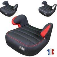 Siège Auto Groupe 2-3 Monsieur Bébé Siège auto rehausseur bébé groupe 2 et 3 de 15kg à 36kg - 100% fabriqué en france - noir et rouge