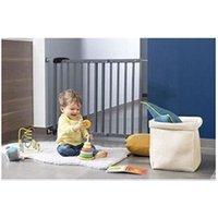 Barrière de sécurité bébé Icaverne Barriere de securite bebe badabulle deco pop grise barriere de sécurité extensible fixation pression & vis (63,5 - 106cm)