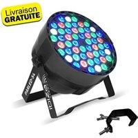 Jeux de lumière autonome Ibiza Light Projecteur ibiza light sonod dj club soirée à led 54 led rgbw - 8 canaux dmx