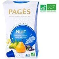 Infusion Pages Pages infusion nuit - verveine, tilleul, poire, myrtille - capsules - bio