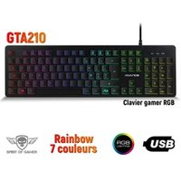 Clavier gamer Spirit Of Gamer Clavier gamer ultra plat rétro éclairé rgb - touches silencieuses