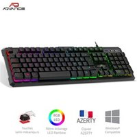 Clavier gamer Spirit Of Gamer Clavier semi-mécanique à led rgb gta 230 pour gamer  - frappe silencieuse